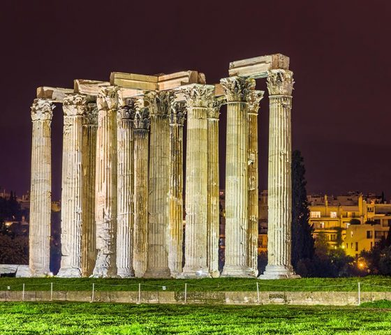 Athens by night. Tours of Athens