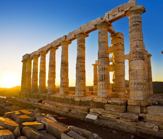 Image of Cape Sounio. Tours of Athens