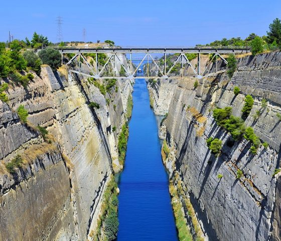 Corinth Canal. Athens-Limo